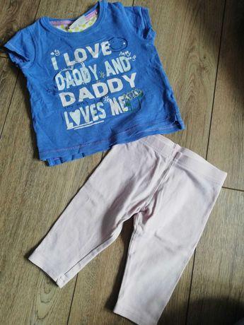 Rozmiar 74, next spodnie +bluzeczka