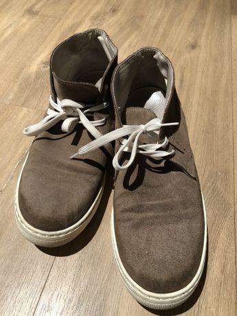 Zamszowe buty męskie, rozmiar 43