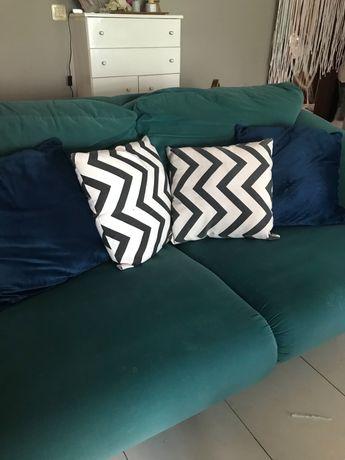 Sofá cama 2 lugares, azul (pele pêssego)