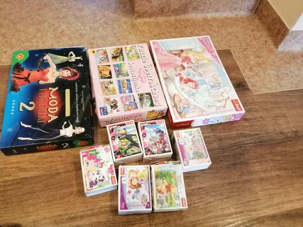 Puzzle i gra dla dziewczynek