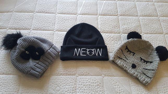 Śliczne czapki H&M MEOW 152/158 Reserved 8-12 lat