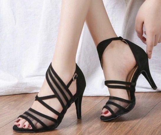 Танцевальные босоножки туфли для латины