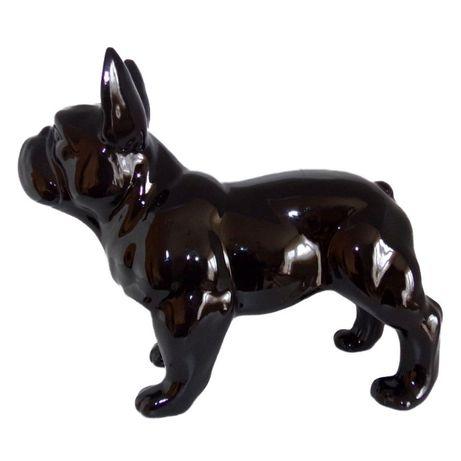 figurka buldog francuski stojący mały biały lub czarny 28 cm