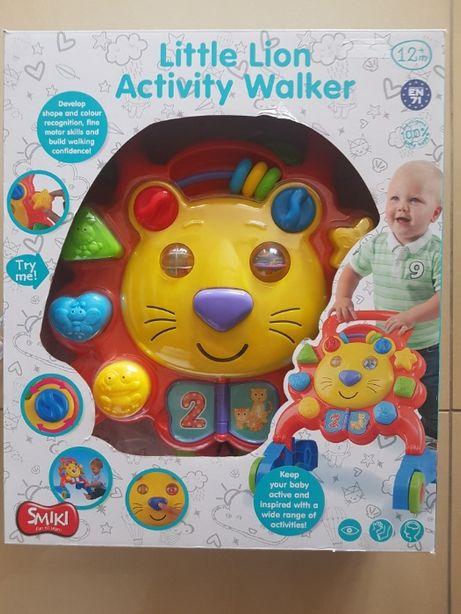 Chodzik, pchacz Little Lion Activity Walker. Firmy Smiki nowy