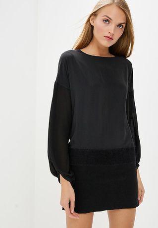 PATRIZIA PEPE NOWA czarna sukienka elegancka 36 S