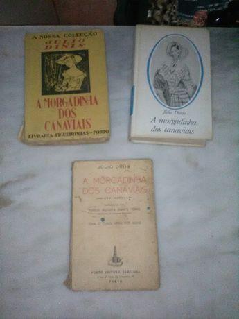 Conjunto de 3 Livros Antigos A Morgadinha dos Canaviais