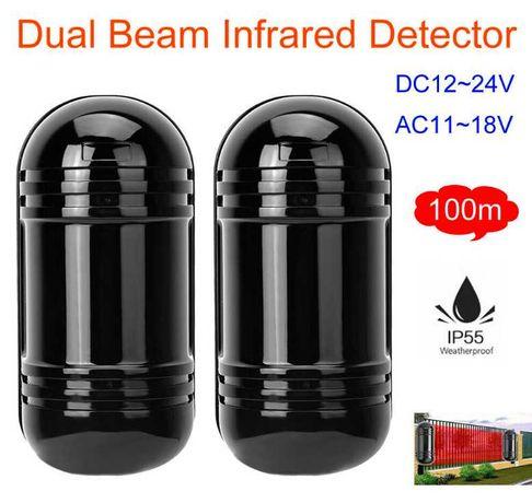 Dwuwiązkowy detektor podczerwieni wodoodporny alarm IR