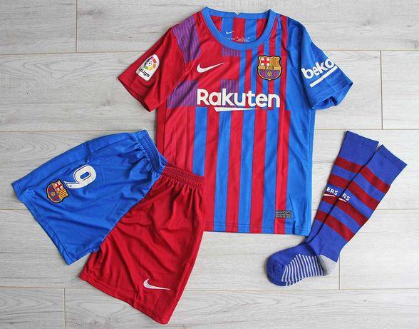 Dziecięcy strój FC BARCELONA Nike Home 21/22 #9 Memphis, 125-135 cm