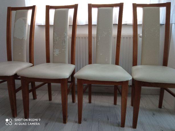 4 drewniane krzesła