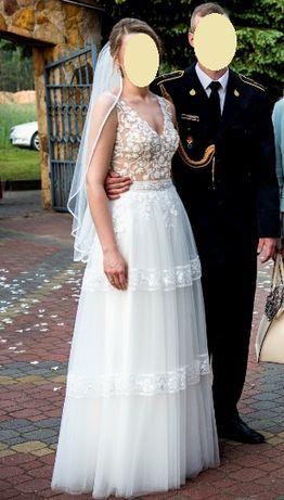 Suknia ślubna - kolekcja 2020 - rozmiar 36