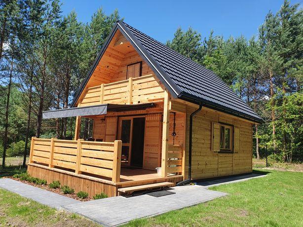 Domek drewniany letniskowy całoroczny  35m2 KOMPLEKSOWO