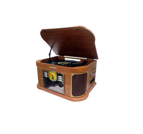 Drewniany gramofon Sunstech pxrc52cd CD BT Kaseta