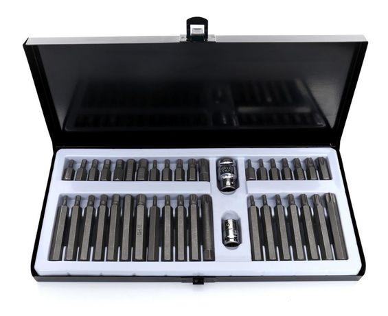 Zestaw Bitów HEX TORX SPLINE 40cz. Metalowa walizka Kraft&Dele KD10220