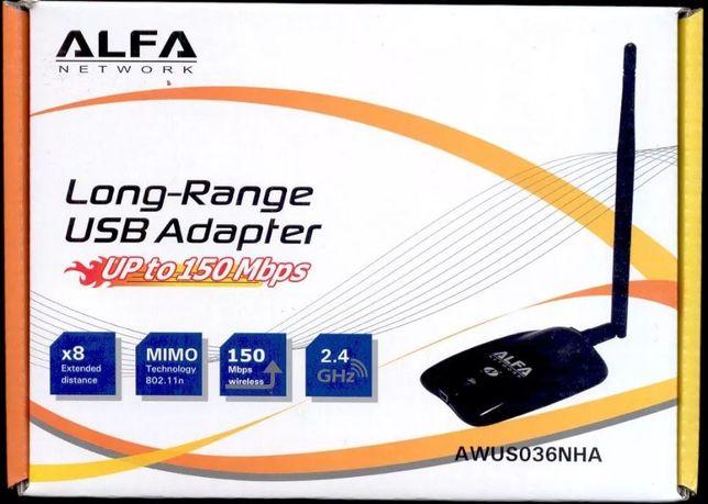Оригинал! USB Wi-Fi адаптер Alfa AWUS036NHA