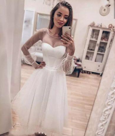 Suknia Ślubna Krótka r. od 34 do 44
