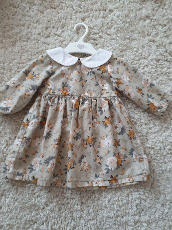 Sukienka handmade unikatowa 80