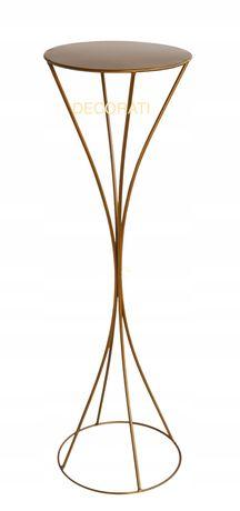 NOWOCZESNY metalowy stojak Nowy wzór Hit ślubnych dekoracji H70 zloty