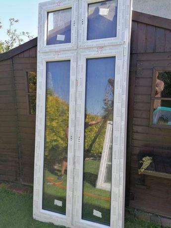 Drzwi balkonowe tarasowe dwuszybowe 1060szer x 2690wys nowe okna