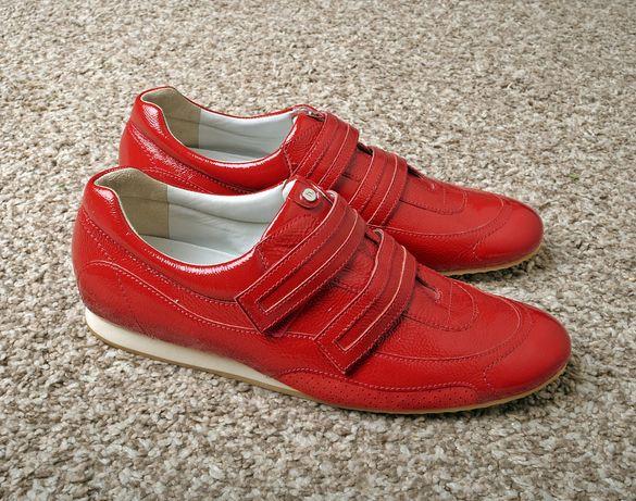 HOGL skóra czerwone sneakers uk 7 26 cm