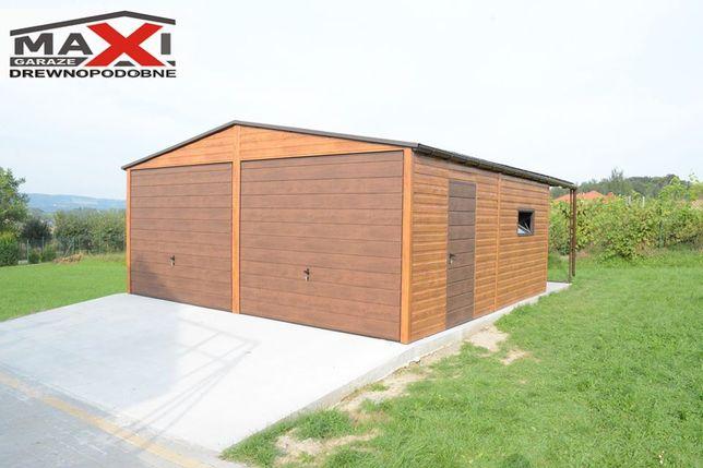 Garaz blaszany dwustanowiskowy, 6x6, 35m2, KONSTRUKCJA OCYNKOWANA