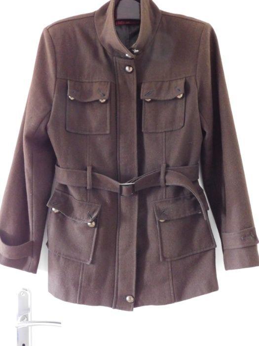 Oddam za darmo wełnianą kurtkę damską kolor brązowy, rozmiar M Wolbrom - image 1