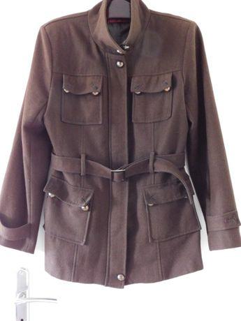 Oddam za darmo wełnianą kurtkę damską kolor brązowy, rozmiar M
