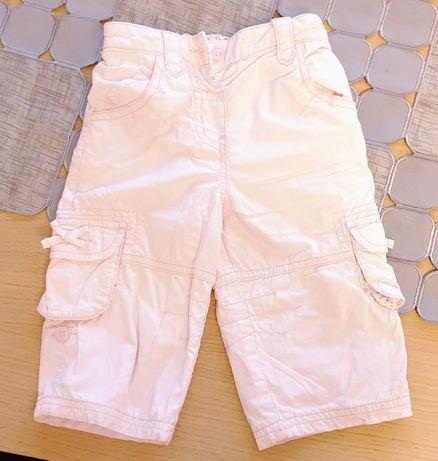 Spodnie bojówki różowe