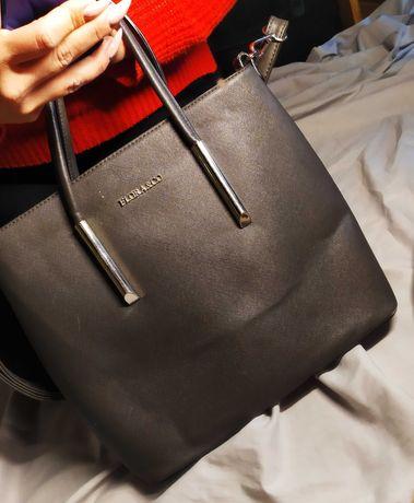 Torba szara torebka na rękę Flora&co