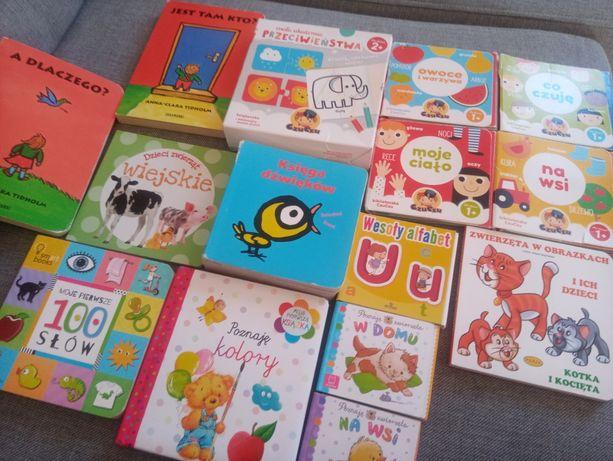 Zestaw książeczek edukacyjnych niemowlę maluch książka puzzle
