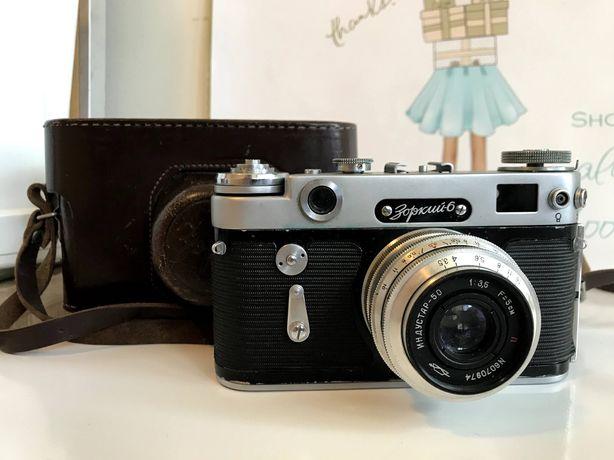 Zorki-6 radziecki aparat dalmierzowy 35 mm z obiektywem Industar-50