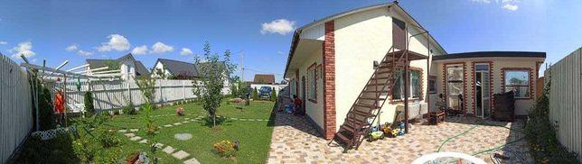Добротный дом 190 м, газоблок, с ремонтом и мебелью, погреб