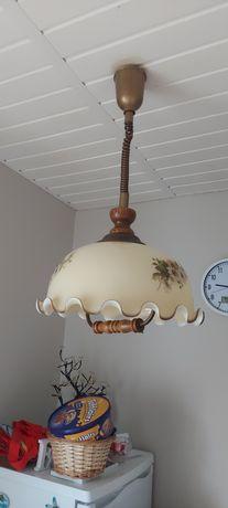Lampa wisząca styl retro kwiaty