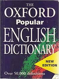słownik ,, The Oxford popular English dictionary''
