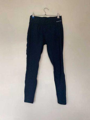 Granatowe niebieskie legginsy sportowe na fitness Newbody M 38 spodnie