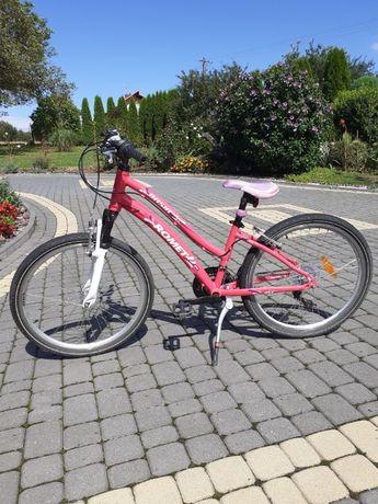 Rower Romet dla dziewczynki idealny stan 24 cale 6x3 biegi Shimano
