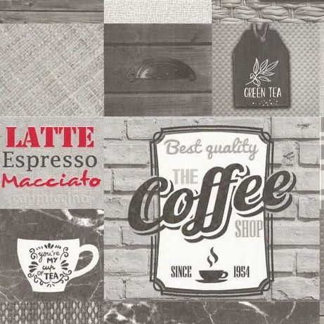 Tapeta ścienna do kuchni cegła kawa Coffe Tea Breakfast szary