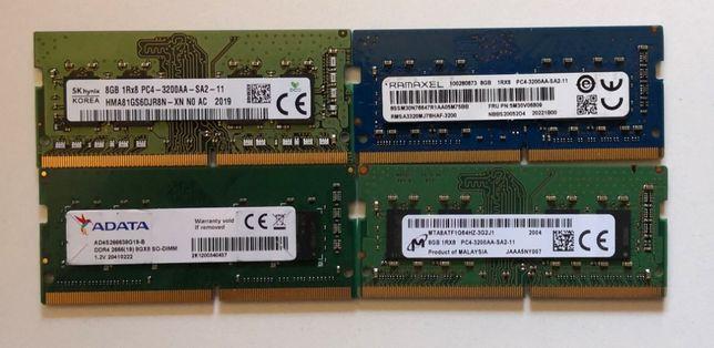 PAMIĘĆ RAM 8GB DDR4 SO-DIMM Hynix Micron Kingston Adata Crucial