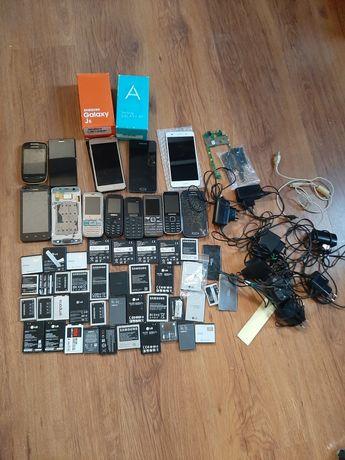 Zestaw telefonów , samartfonów  bateri  itp