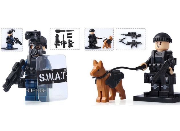 Лего мини-фигурки спецназ SWAT полиция армия оружие зброя
