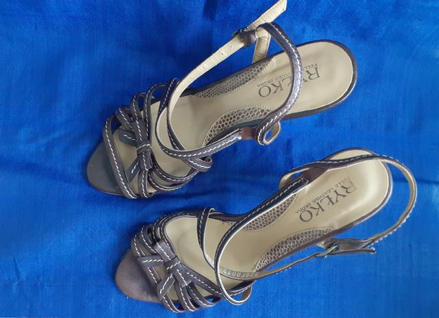 Sandały brązowe skórzane Ryłko 36,5