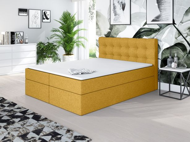 NOWOŚĆ !! łóżko kontynentalne RIVER 200 x 200 + materace i pojemnik !!