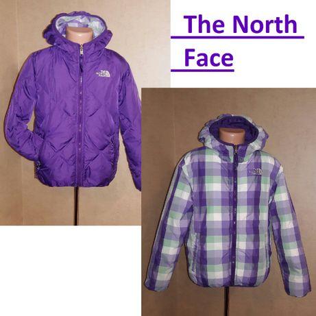 Пуховик, зимняя куртка The North Face , двухсторонняя на 7-8лет
