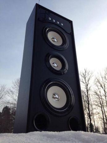 Wieza Kolumna Bluetooth przenosny Boombox Glosnik mp3 radio budowlane