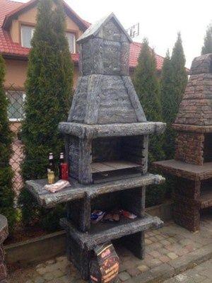Betonowy grill kominek DREWNIANY K10 !