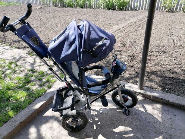Детский трёхколёсный велосипед, надувные резиновые колёса