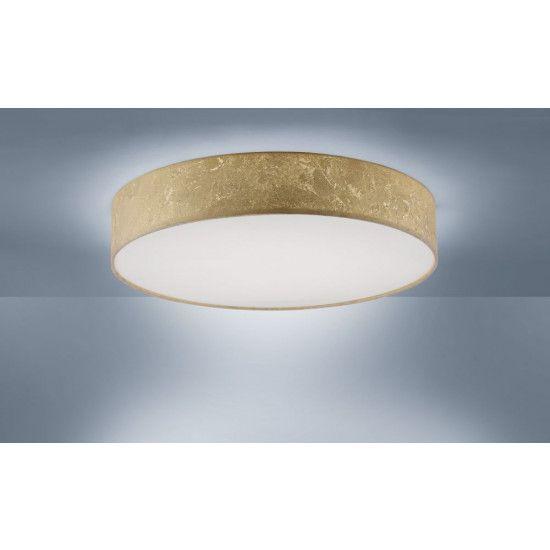 Złoty abażur LED plafon styl Skandynawski KIARA zimne/ciepłe ściemniac Częstochowa - image 1