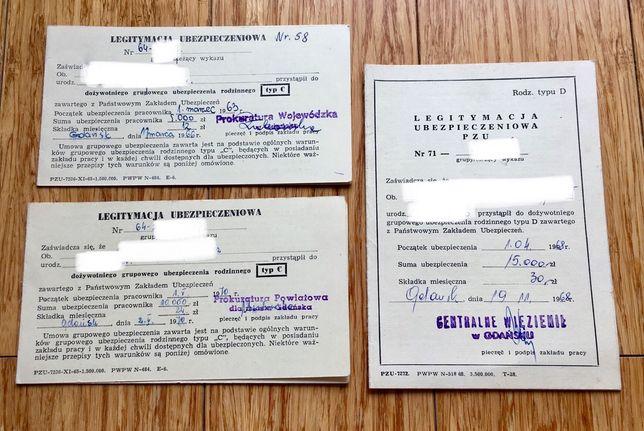 Dokumenty PRL - Legitymacja ubezpieczeniowa ( Więzienie Prokuratura )