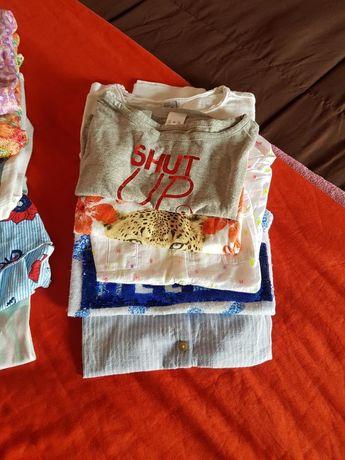 Conjunto de 6 tshirts criança