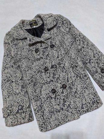 Пальто шерстяное пиджак кардиган шерсть тренч батал большого размера