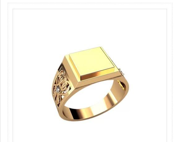 Печатка классическая серебро/золото все размеры